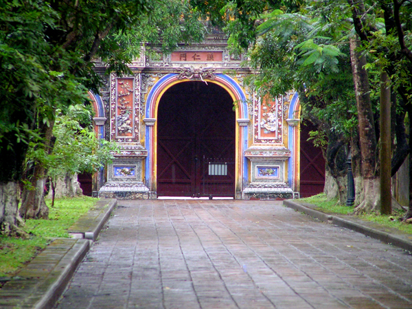 Hien Nhan Gate in The Entrance of To Mieu Temple