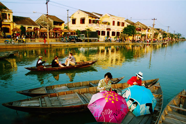 Hoi An Ancient Town on the Bank of Thu Bon River.