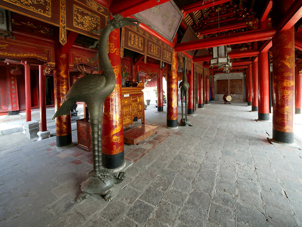 Inside Architecture in Temple of Literature
