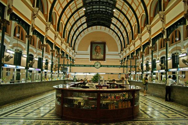 Inside Saigon Central Post Office