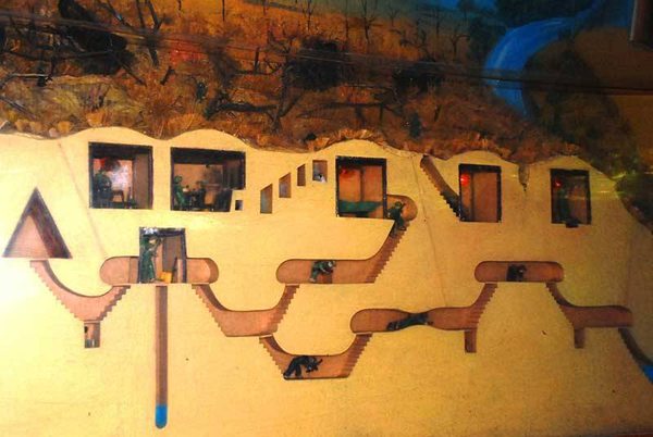 Model of one part of the Cu Chi tunnels.