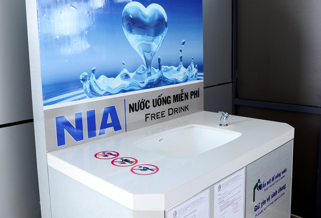 The free drinking water is available in the lobby serving needs of passengers.