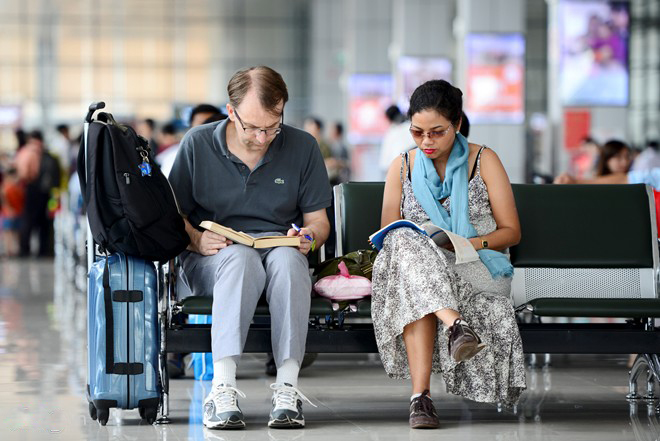 More than 2,100 new seats were installed for passengers while waiting for flight.