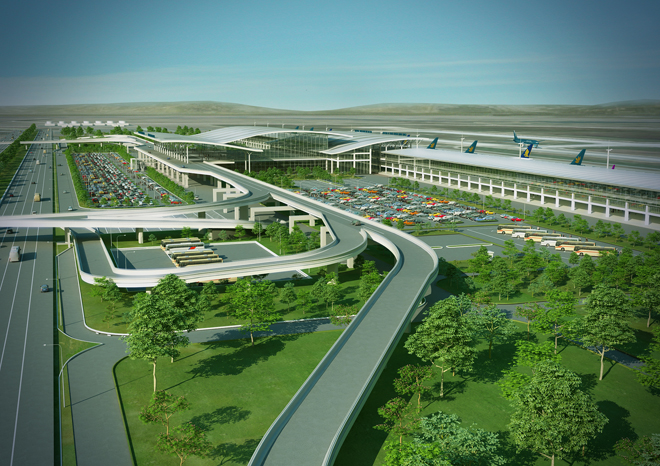 Terminal 2 of the Noi Bai International Airport