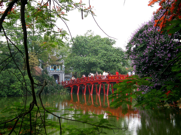 The Huc Bridge and Ngoc Son Temple, Hoan Kiem Lake, Hanoi