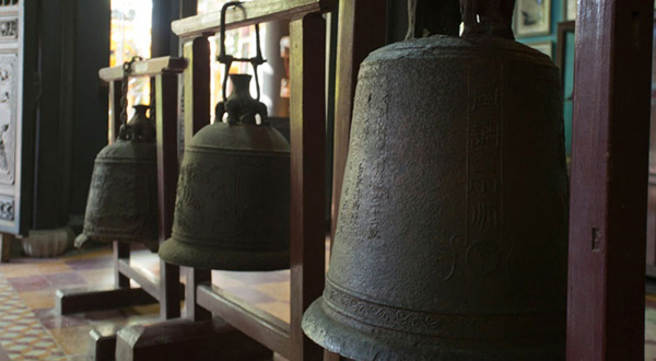 The old bells inside Hoi An Museum of History & Culture