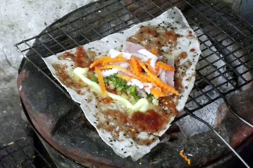 Grilled Rice Paper with Shrimp Paste