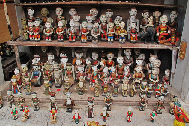Vietnamese traditional water puppets