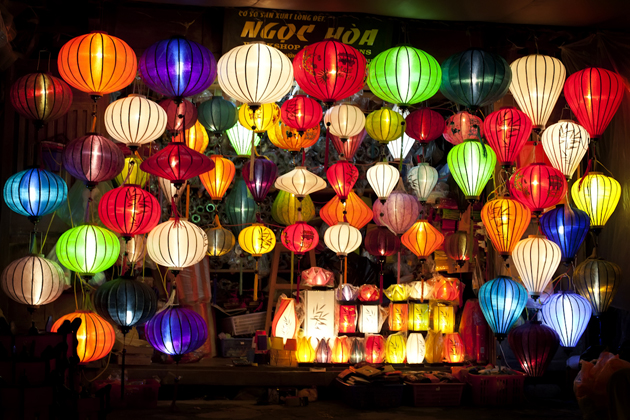 Magical lanterns in Hoi An at night
