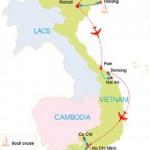 15-Day Vietnam Highlights Tour - Map