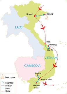 15 day vietnam highlights tour nature folk arts world heritage sites 15 day vietnam highlights tour map gumiabroncs Image collections