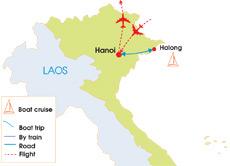 Northern Vietnam Map.5 Day Northern Vietnam Family Tour Hanoi Hoa Lu Tam Coc Halong Bay