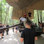 American battle tank in the tunnels of Cu Chi