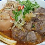 Bun Bo Gio Heo rice noodle with beef and pork