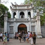 The main gate of Temple of Literature in Hanoi