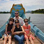 boat trip along the perfume river with kids