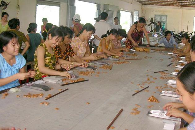 coconut candy workshop in mekong delta