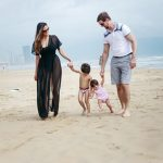 danang family tour at beach