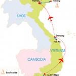 12-Day Friendly Vietnam Tour - Map