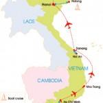 13-Day Vietnam Honeymoon Tour - Map