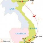 13-Day Vietnam Spa & Wellness tour - Map