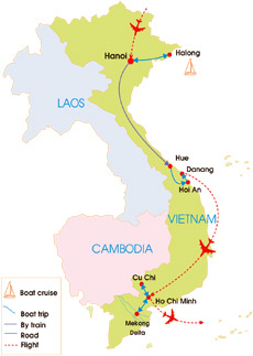 15-Day Vietnam School Tour - Map