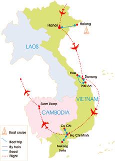 vietnam cambodia highlight tour 16 days
