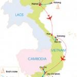 17-Day Vietnam Food Adventure Tour - Map
