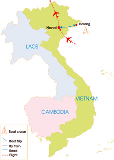 6-Day Discover The exotic Halong Bay & Hanoi Wellness & Spa - Map