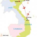 8-Day Hanoi - Halong Bay - Hoi An Honeymoon Tour - Map