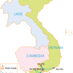 8-Day Southern Vietnam Extension - Map