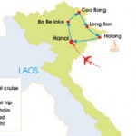 9-Day Adventure North - East Vietnam Tour - Map