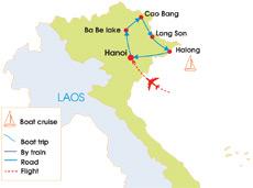 9-Day Adventure Northeast Vietnam Tour - Map