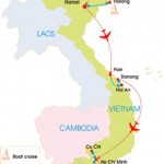 9-Day Vietnam at a Glance - Map