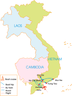 9-Day South Vietnam Holiday With Anzac Day 2016 - Map