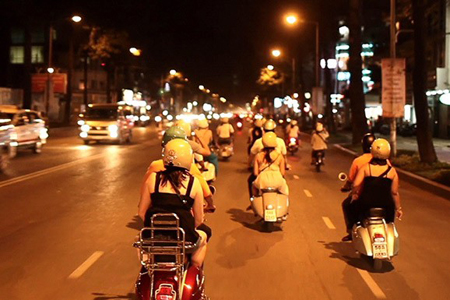 Ho Chi Minh City After Dark By Vespa - 4 hours - Vietnam Vacation