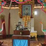 Altar inside local Cao Dai Temple