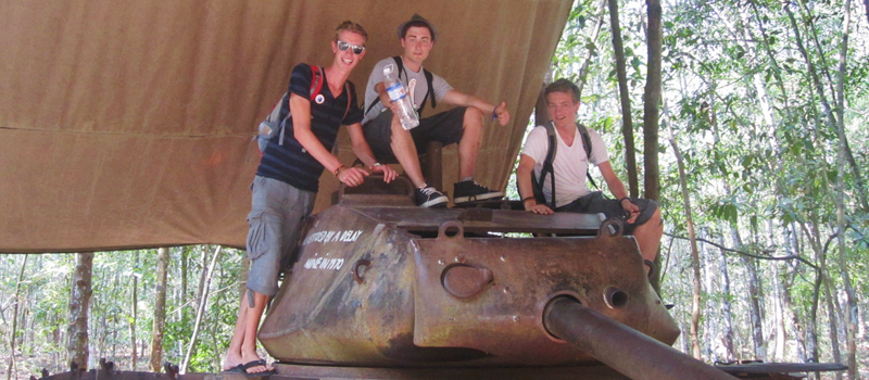 American tank in Cu Chi Tunnels tour half day