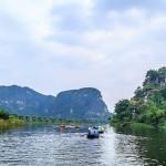 Boat along Ngo Dong River