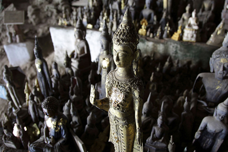 Buddha images in Pak Ou Caves