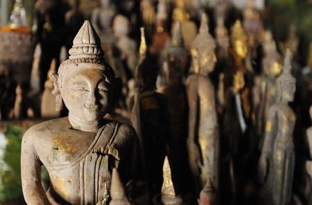 Buddha images inside Pak Ou Caves