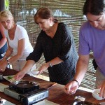 Cooking lesson in Red Bridge School