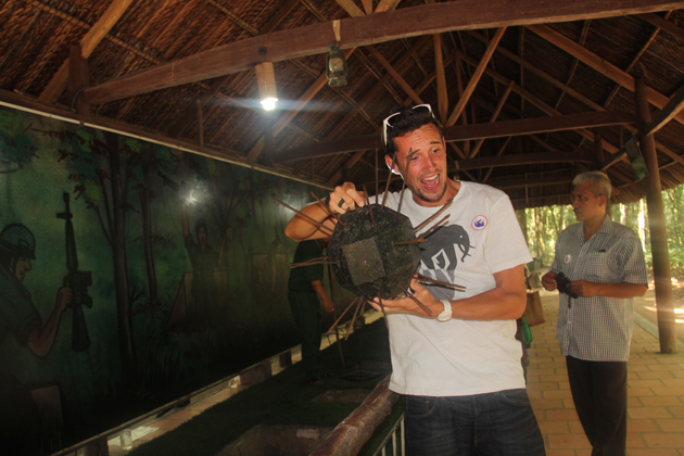 Discover the tunnel and many items on exhibition in Cu Chi
