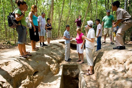 Discover the tunnels of Cu Chi and hear the stories of heroic past Vietnam war