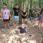 Get in and get out the entrance of Cu Chi Tunnels