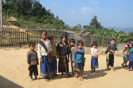 Hill tribe village in Oudomxay
