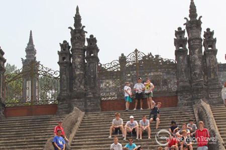 In front of Khai Dinh tomb in Hue