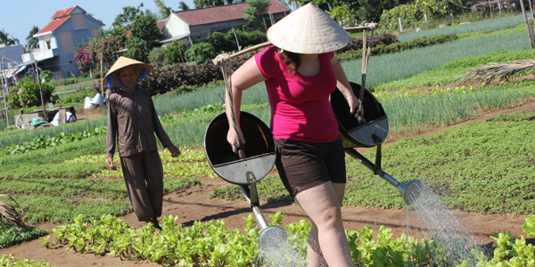 Join into the farming activities in Tra Que Village