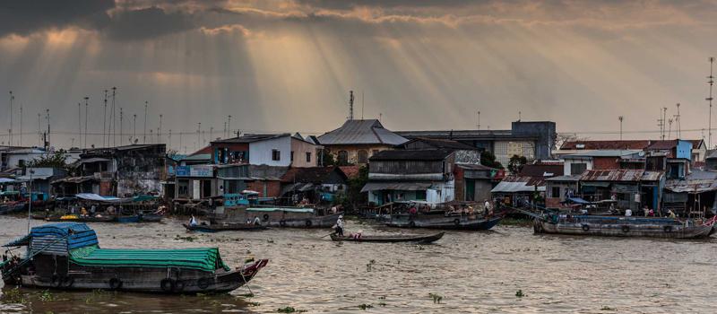 Mekong Delta with Cai Rang Floating Market