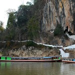 Boat trip to access Pak Ou Caves